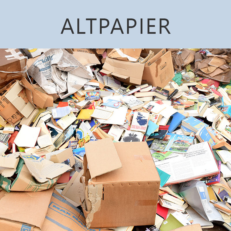 Wertstoff-Altpapier